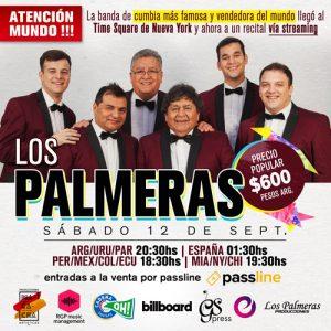 Los Palmeras de Argentina ofrecerán su cumbia vía streaming