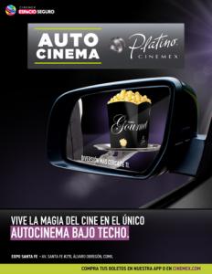 Abre el primer Autocinema Platino Cinemex en CDMX