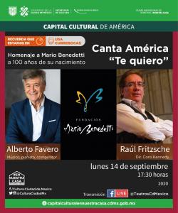 Canta América «Te quiero». Homenaje a Benedetti