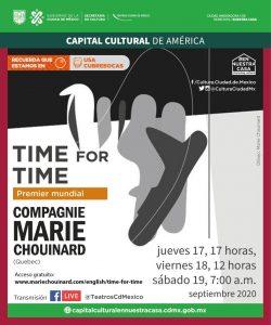 La prestigiosa Compagnie Marie Chouinard invita a la premier mundial de su propuesta virtual «time for time»