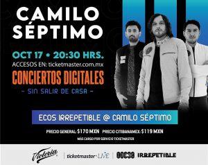 Camilo Séptimo presentará Ecos en un show IRREPETIBLE