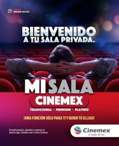 Ahora puedes rentar una sala Cinemex privada para ver una película, disfrutar la emoción de la NFL o jugar videojuegos!!!